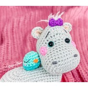 Halia the Hippo - Quad Squad Series Amigurumi Crochet Pattern - English, Dutch, German, Spanish, French