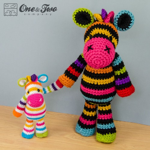 Zebra Pattern Horse Rug: Rainbow Zebra Amigurumi Crochet Pattern