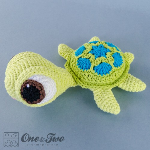 Crochet Patterns Turtle : Bob the Turtle Lovey and Amigurumi Crochet Patterns Pack
