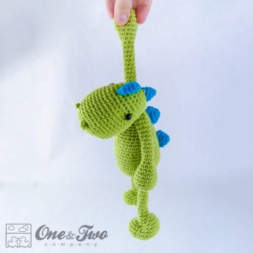 Free Dinosaur Amigurumi Crochet Pattern | Crochet dinosaur pattern ... | 500x500