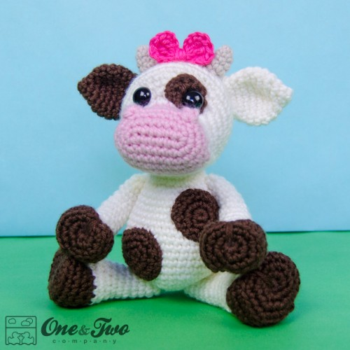 Amigurumi Crochet Cow Pattern by Little Bear Crochets | 500x500