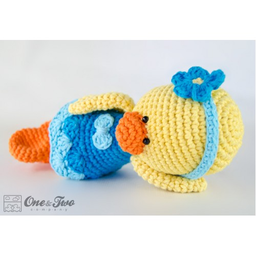 Amigurumi Pattern Duck 3 Pictures to pin on Pinterest