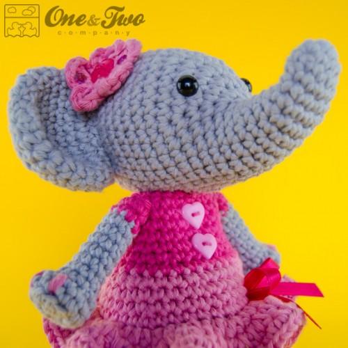 Free Crochet Pattern For Toy Elephant : Elephant Amigurumi Crochet Pattern