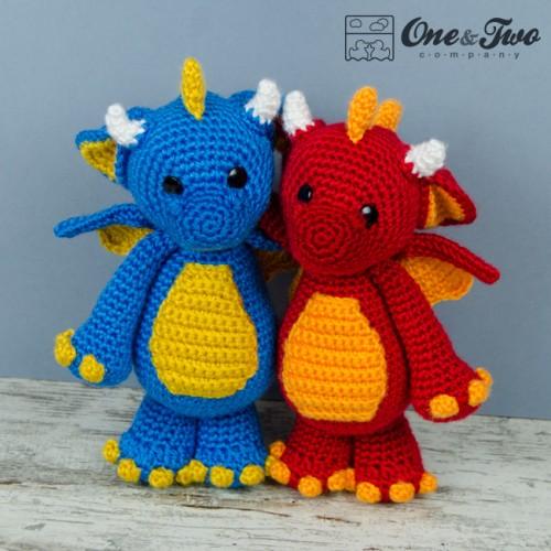 Baby Dragon Hat Crochet Pattern Free : Felix the Baby Dragon Amigurumi Crochet Pattern