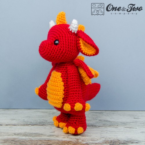 Baby Dragon Amigurumi Pattern : Felix the Baby Dragon Lovey and Amigurumi Crochet Patterns ...