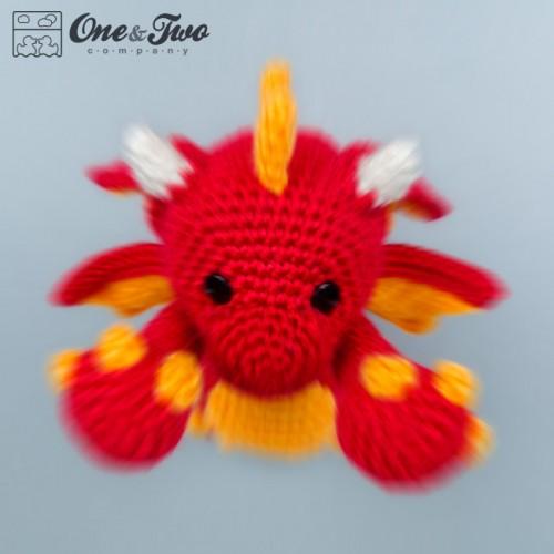 Baby Dragon Amigurumi Pattern : Felix the Baby Dragon Amigurumi Crochet Pattern
