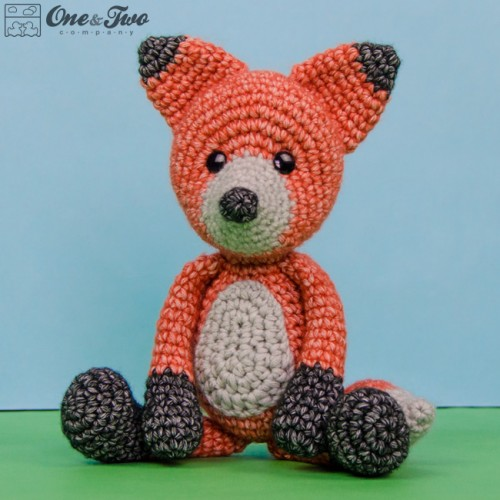 Cute fox amigurumi free pattern | 500x500