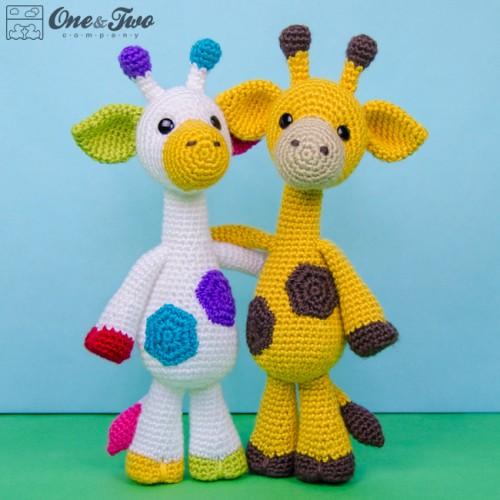 Geri the Giraffe Lovey and Amigurumi Crochet Patterns Pack