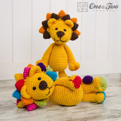 Amigurumi Free Patterns Lion : Logan the Lion Lovey and Amigurumi Crochet Patterns Pack
