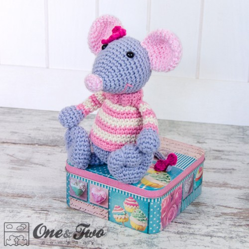 Amigurumi Patterns Free Mouse : Emily the Mouse Lovey and Amigurumi Crochet Patterns Pack