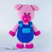 Eddie the Piggy Amigurumi Crochet Pattern