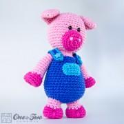 Eddie the Piggy Amigurumi Crochet Pattern