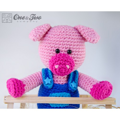 Amigurumi Rhino Free Pattern : Eddie the Piggy Amigurumi Crochet Pattern