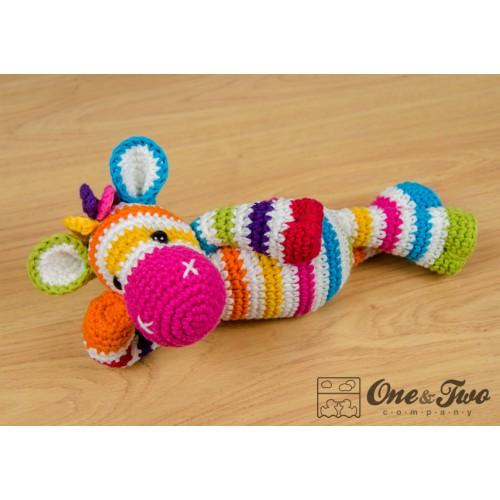Amigurumi Askina Free Patterns : Rainbow Zebra Amigurumi Crochet Pattern