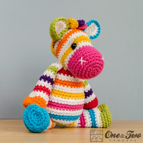 Free Crochet Zebra Patterns : Rainbow Zebra Amigurumi Crochet Pattern