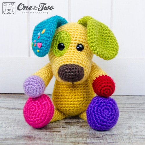 Dolphin Amigurumi Free Crochet Pattern : Scrappy the Happy Puppy Amigurumi Crochet Pattern