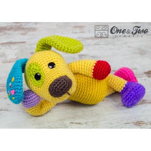 Amigurumi Puppy Free Pattern : Scrappy the Happy Puppy Amigurumi Crochet Pattern