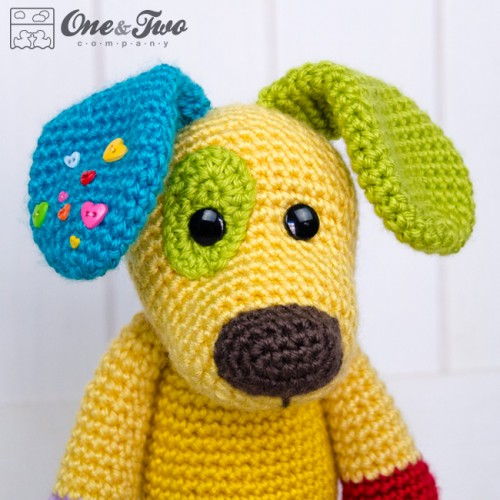 Amigurumi Pug Dog Pattern : Scrappy the Happy Puppy Amigurumi Crochet Pattern