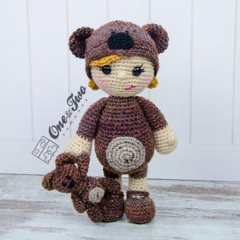 Honey the Teddy Bear Girl Amigurumi Crochet Pattern