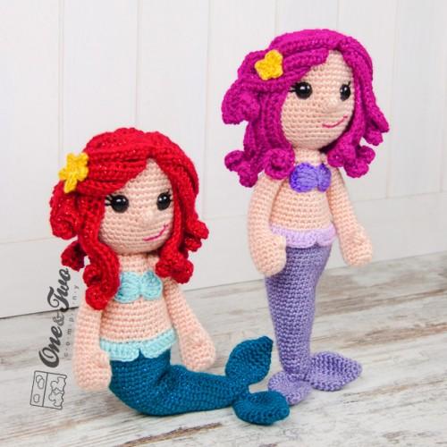 Amigurumi Free Pattern Doll : Marina the Mermaid Lovey and Amigurumi Crochet Patterns Pack