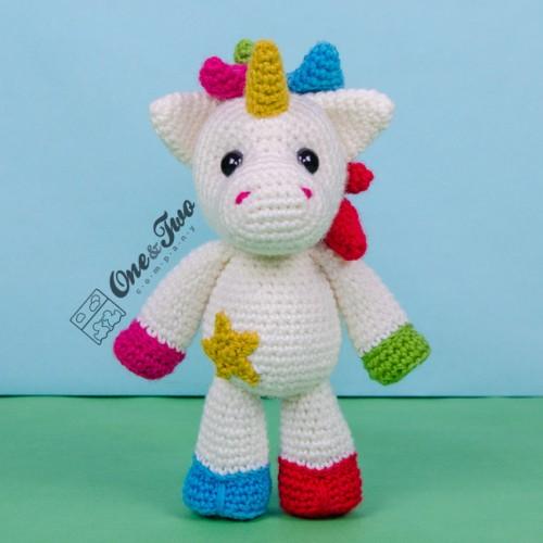 Jazzy the Unicorn Free Amigurumi Pattern | Jess Huff | 500x500