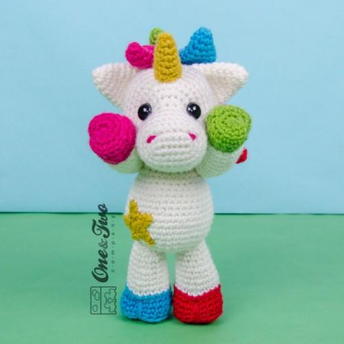 Amigurumi Crochet Unicorn : Nuru the Unicorn Amigurumi Crochet Pattern