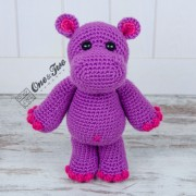 Pip the Hippo Lovey and Amigurumi Crochet Patterns Pack
