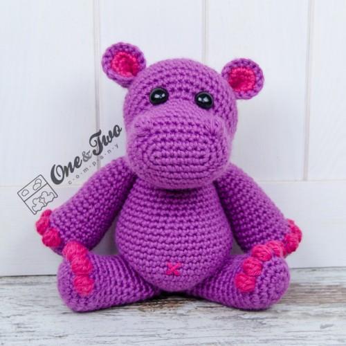 Harriet the Hippo Free Amigurumi Pattern | Jess Huff | 500x500