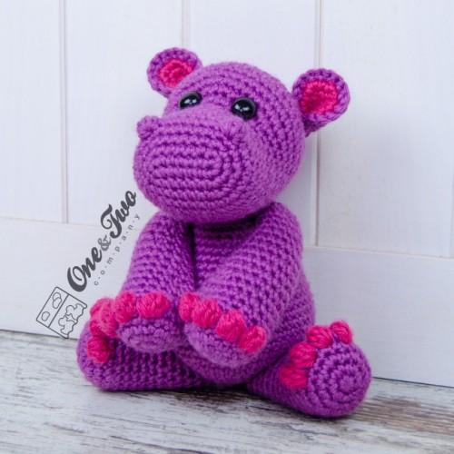 Crochet hippo amigurumi pattern | Amigurumi Space | 500x500