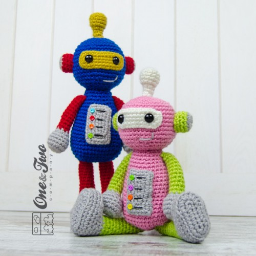 Crochet pattern Robot - Amigurumi (LittleOwlsHut) - Kindle edition ... | 500x500