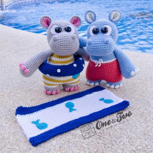 How to crochet an Hippo | World Of Amigurumi - YouTube | 500x500