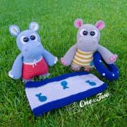 "Sammy and Sally the Little Hippos ""Little Explorer Series"" Amigurumi Crochet Pattern"