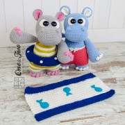 "Sammy and Sally the Little Hippos ""Little Explorer Series"" Amigurumi Crochet Pattern"