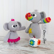 "Dash and Dot the Little Elephants ""Little Explorer Series"" Amigurumi Crochet Pattern"
