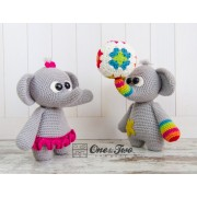 "Dash and Dot the Little Elephants ""Little Explorer Series"" Amigurumi Crochet Pattern"