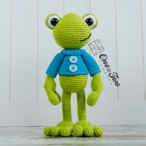 Amigurumi Frog Free Pattern : Kelly the Frog Lovey and Amigurumi Crochet Patterns Pack
