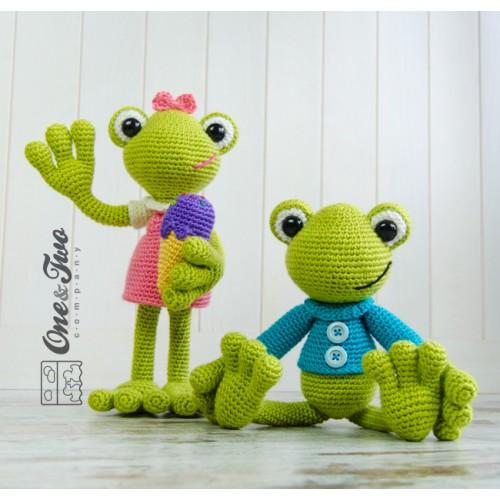 Free Amigurumi Crochet Frog Patterns : Kelly the Frog Amigurumi Crochet Pattern