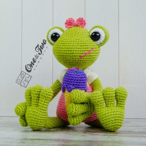 Amigurumi Frog Free Pattern : Kelly the Frog Amigurumi Crochet Pattern