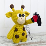 "Kenny the Little Giraffe ""Little Explorer Series"" Amigurumi Crochet Pattern"