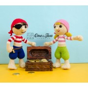 Pete and Penny the Pirates Lovey and Amigurumi Crochet Patterns Pack