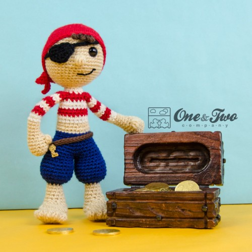 Pete and Penny the Pirates Amigurumi Crochet Pattern