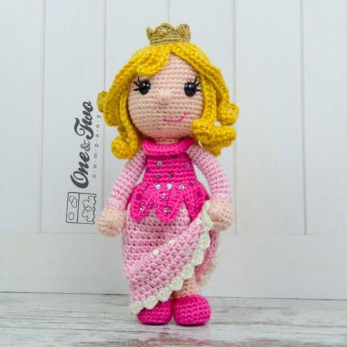 Free Amigurumi Princess Pattern : Princess Rose Amigurumi Crochet Pattern