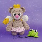 "Bella the Little Teddy Bear ""Little Explorer Series"" Amigurumi Crochet Pattern"