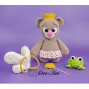 """Bella the Little Teddy Bear """"Little Explorer Series"""" Amigurumi Crochet Pattern"""
