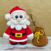 "Claus the Little Santa ""Little Explorer Series"" Amigurumi Crochet Pattern - English, Dutch, German"