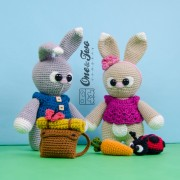 "Lola and Lance the Little Bunnies ""Little Explorer Series"" Amigurumi Crochet Pattern"