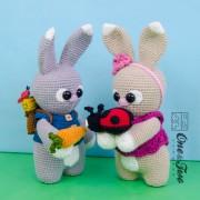 """Lola and Lance the Little Bunnies """"Little Explorer Series"""" Amigurumi Crochet Pattern"""