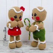 Nut and Meg Gingerbread Amigurumi Crochet Pattern
