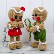 Nut and Meg Gingerbread Amigurumi Crochet Pattern
