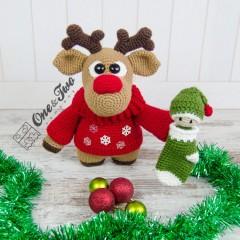 "Rudy the Little Reindeer ""Little Explorer Series"" Amigurumi Crochet Pattern"